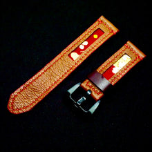 Load image into Gallery viewer, 47Ronin#163 Brown calf leather (20mm, Red stitching)
