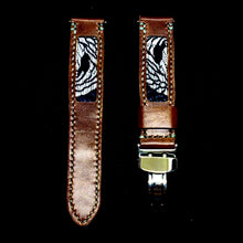 Load image into Gallery viewer, 47Ronin#312 Chocolate brown glossy calf leather (22mm, Grey stitching)