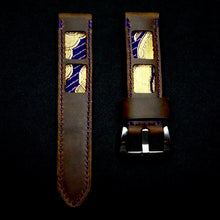 Load image into Gallery viewer, SIXOFOUR Series One - Robson Violet with 47Ronin#319 Mocha brown calf leather (22mm, Purple stitching)