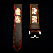 Load image into Gallery viewer, 47Ronin#320 Mocha brown calf leather (22mm, Red stitching)