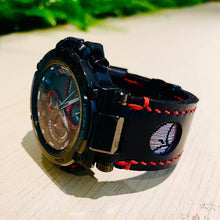 Load image into Gallery viewer, 47Ronin#160 Black calf leather (24mm, Red stitching)