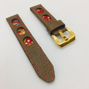 47Ronin#070 Tan brown calf leather (20mm, Red stitches)