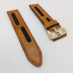 47Ronin#072 Bronze brown calf leather (22mm, red stitches)