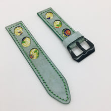 Load image into Gallery viewer, 47Ronin#078 Tiffany Blue calf leather (24mm, Green stitches)