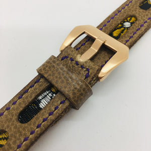 47Ronin#084 Tan brown calf leather (20mm, purple stitches)
