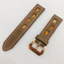 Load image into Gallery viewer, 47Ronin#086 Tan brown calf leather (20mm, Pink stitches)