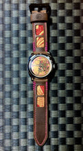 Load image into Gallery viewer, Custom Samurai Watch & Strap combo with 47Ronin#321 Mocha brown calf leather (26mm, Pink stitching)
