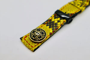 47Ronin#103 Yellow Python skin (22mm, red stitches)