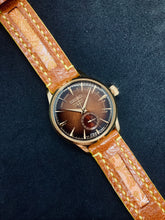 Load image into Gallery viewer, 47Ronin#189 Tawny brown calf leather (20mm, Yellow stitching)
