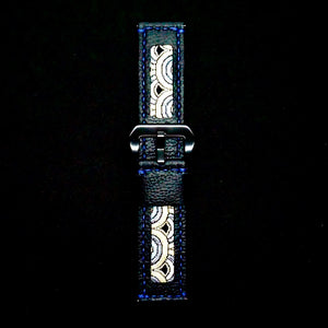 47Ronin#202 Black calf leather (24mm, Navy blue stitching)