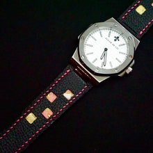 Load image into Gallery viewer, 47Ronin#258 Dark brown calf leather (24mm, Pink stitching)