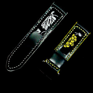 47Ronin#262 Black calf leather (24mm, White & Yellow stitching)