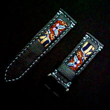 Load image into Gallery viewer, 47Ronin#265 Black calf leather (24mm, Sky blue stitching)