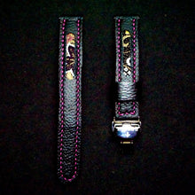 Load image into Gallery viewer, 47Ronin#249 Black calf leather (18mm, Pink stitching)