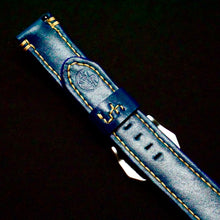 Load image into Gallery viewer, 47Ronin#282 Egyptian blue calf leather (22mm, Beige stitching)