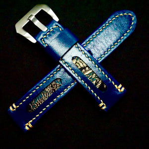 47Ronin#282 Egyptian blue calf leather (22mm, Beige stitching)