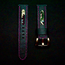 Load image into Gallery viewer, 47Ronin#286 Black calf leather (20mm, Pink stitching)
