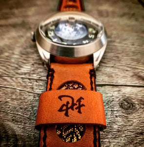 47Ronin#300 Tawny brown calf leather (22mm, Black stitching, Tochigi leather)