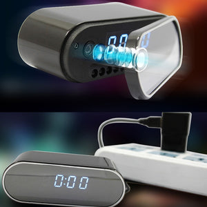 Wireless HD 1080P Nanny Camera Alarm Clock Security Cam