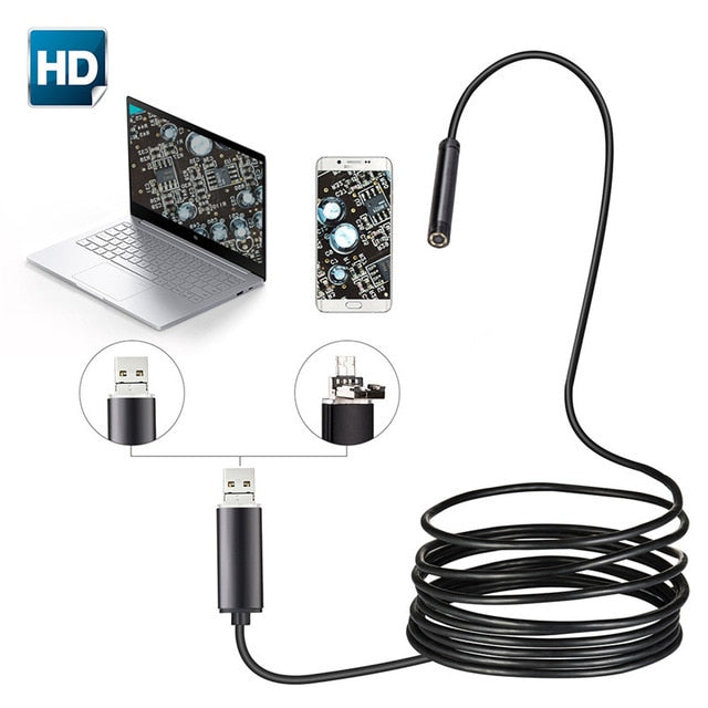 2 in 1 USB Endoscope and Inspection Micro Camera