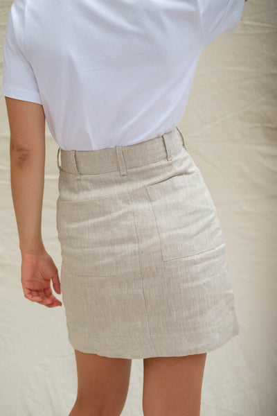 Mother Lover Co Lois Hazel Smooth Skirt - Beige
