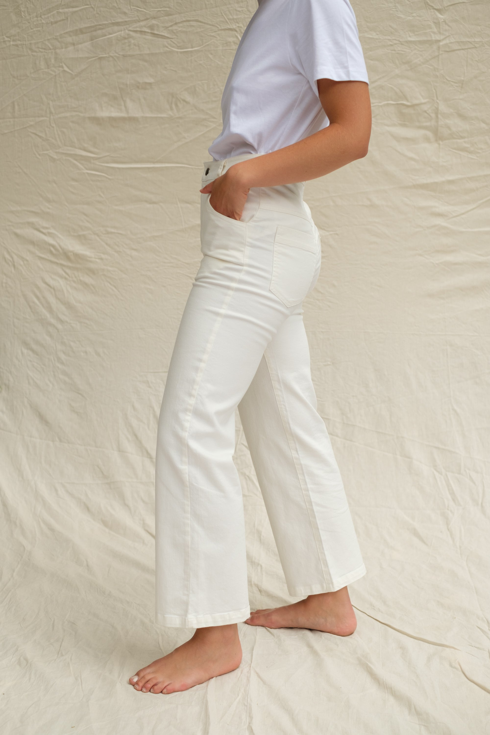 White Organic Jeans
