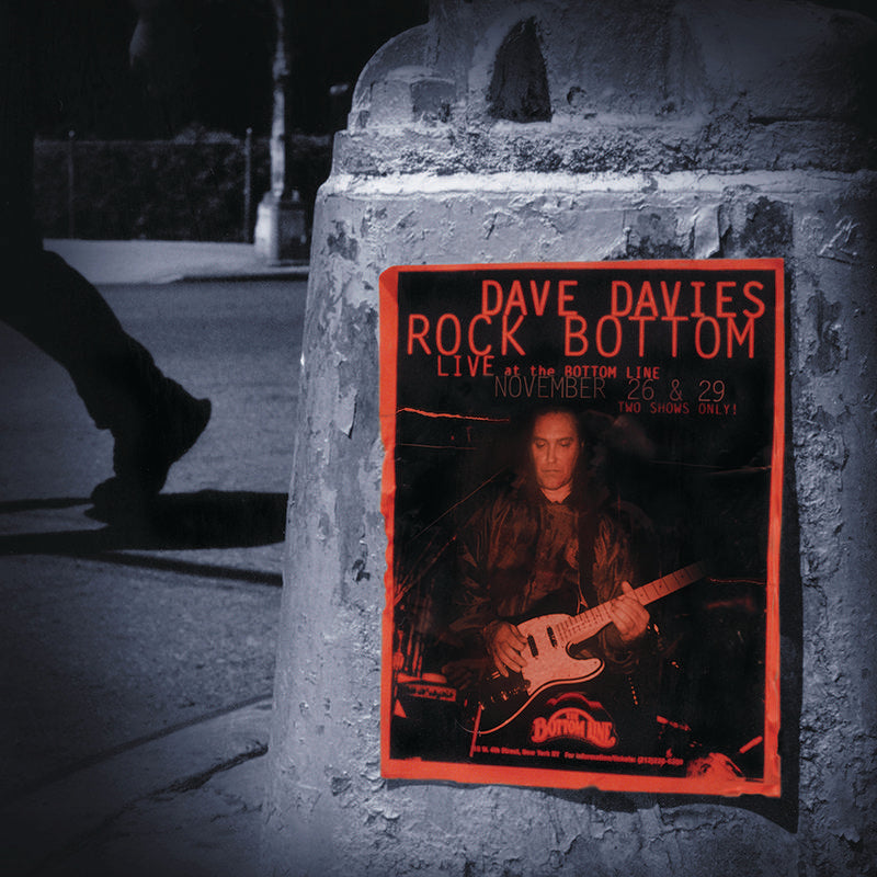 DAVE DAVIES - Rock Bottom: Live At The Bottom Line - 20TH ANNIVERSARY LTD EDITION - 2LP RED & SILVER VINYL - RSD 2020