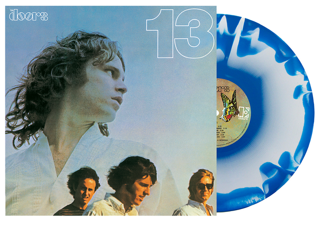 THE DOORS - 13 - BLUE WHITE VINYL - VINYL LP - Wah Wah Records