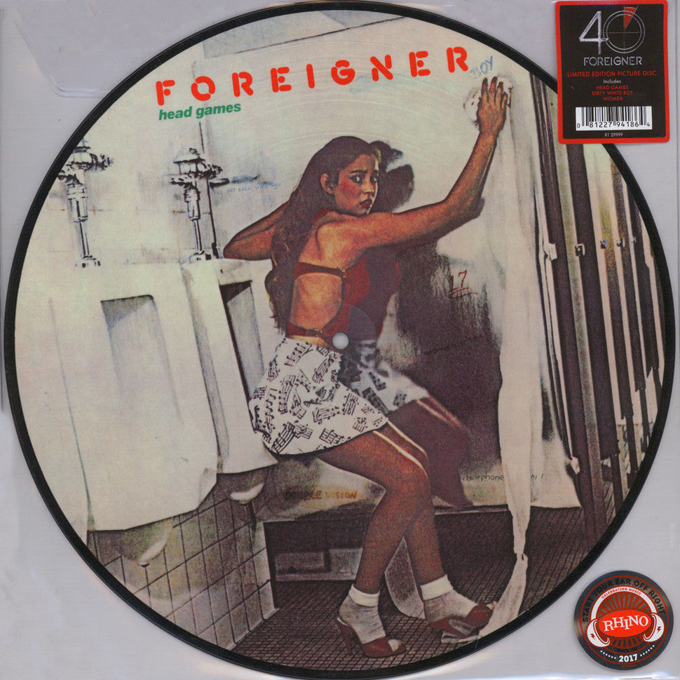 FOREIGNER - HEAD GAMES - PICTURE DISC - VINYL LP - Wah Wah Records