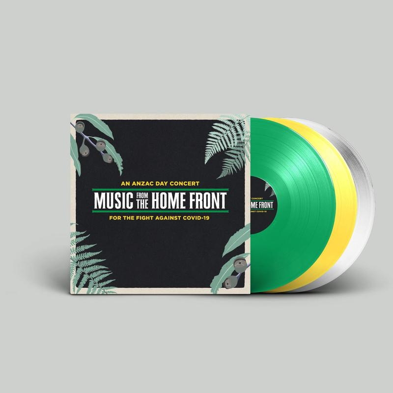 VARIOUS ARTISTS - MUSIC FROM THE HOME FRONT - 3LP COLOURED VINYL - Wah Wah Records