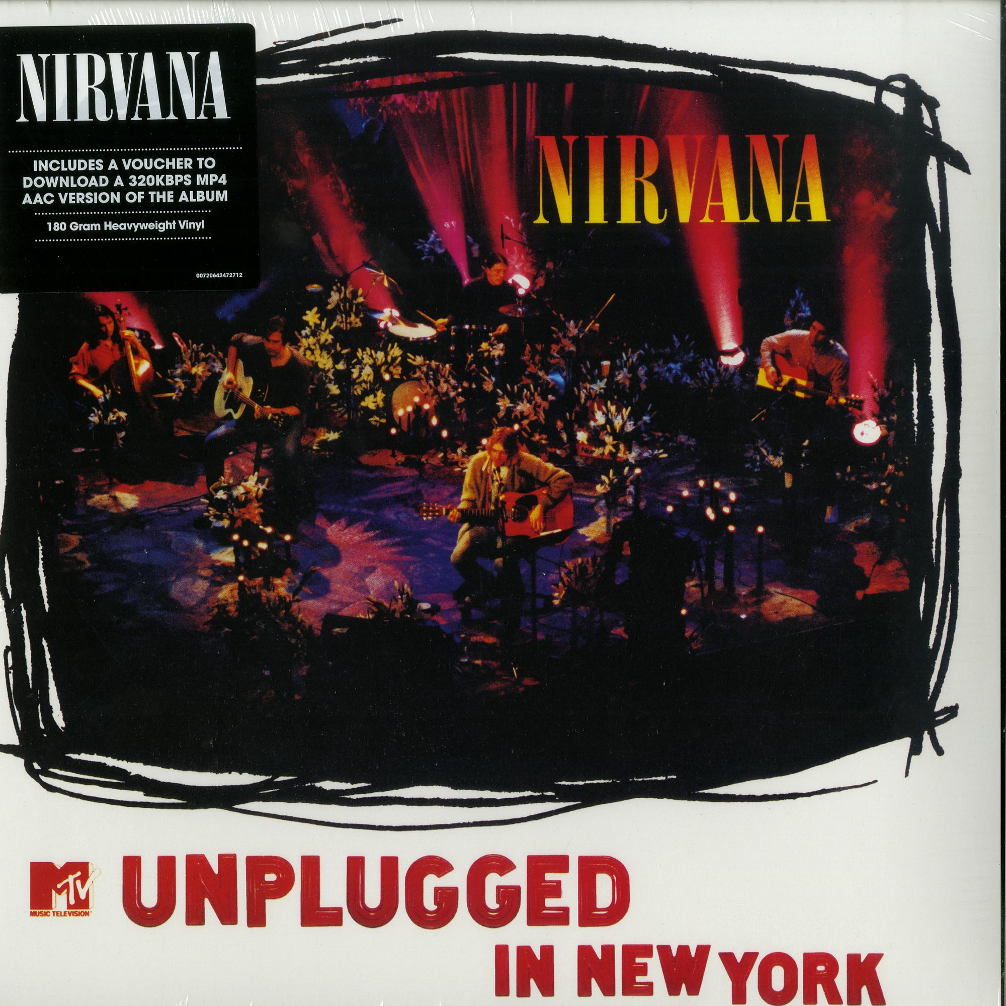 NIRVANA - MTV UNPLUGGED IN NEW YORK - VINYL LP - Wah Wah Records