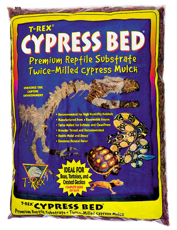 T-Rex Reptile Terrarium Substrate - Cypress Bed
