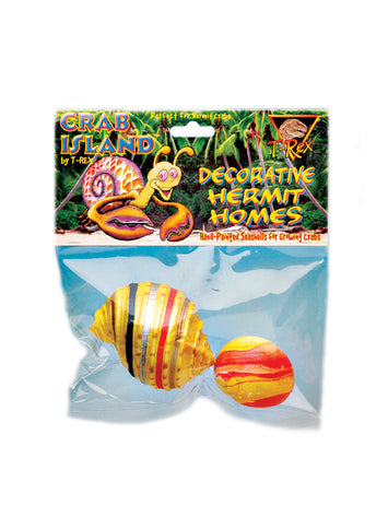 T-Rex Hermit Crab Decorative Home Medium Shell - 2 Pack