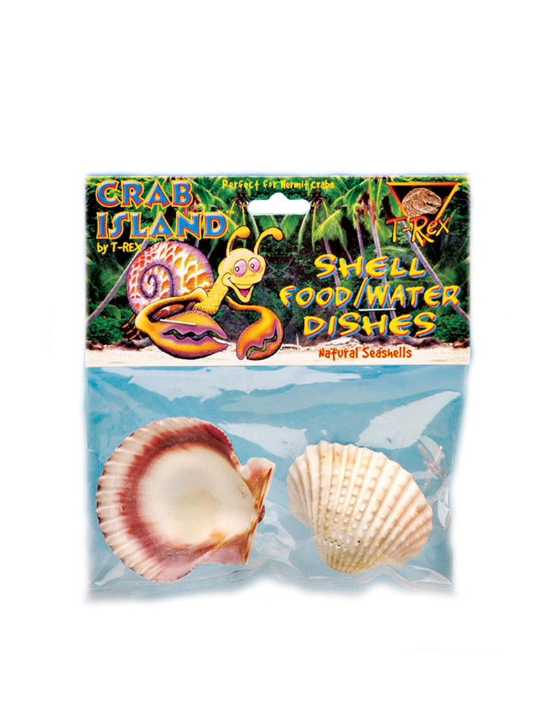 T-Rex Hermit Crab Accessory - Food & Water Shell Dish - 2 Pack