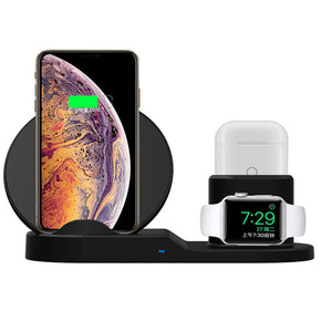 3 In 1 QI Wireless Charger For iPhone 8Plus X XS Max XR, AirPods and Apple