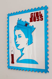 Retro 1p Queen Stamp - A3 Size