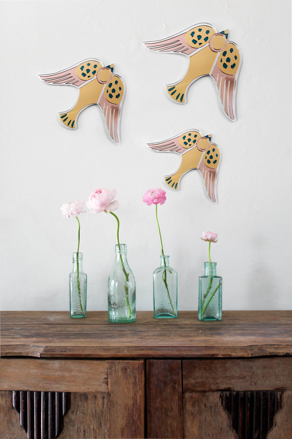 Bird Mirrors By Thelma Tullidge - IN STOCK