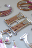 Art Deco Letter Mirrors SMALL - MADE TO ORDER