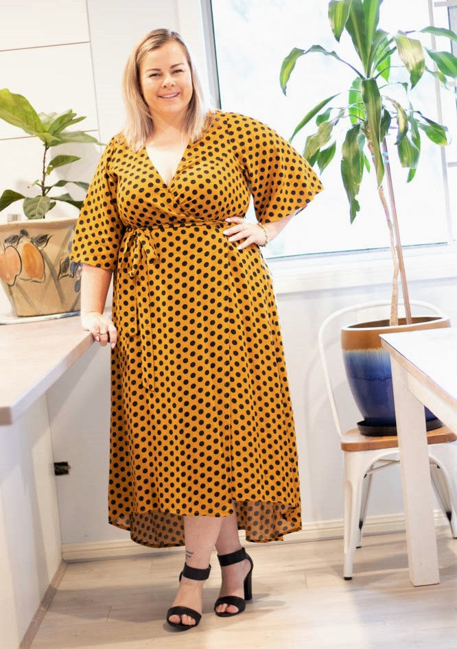 Aussie Curve Wrap Dress - Olivia