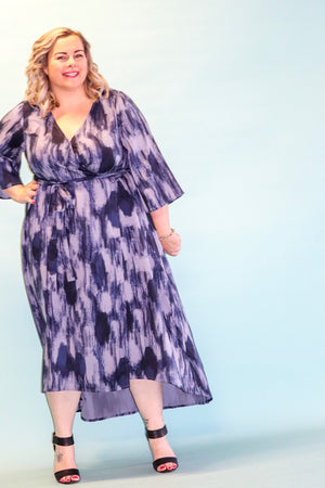 Aussie Curve Wrap Dress - Breeze