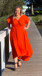Aussie Curve Wrap Dress - Nina
