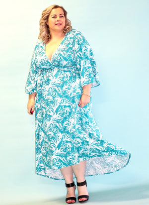 Aussie Curve Wrap Dress - Kinsley