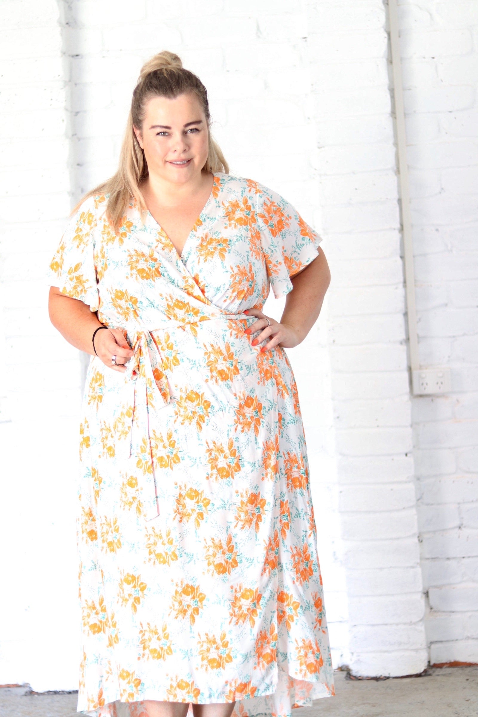 Aussie Curve Wrap Dress - Emma