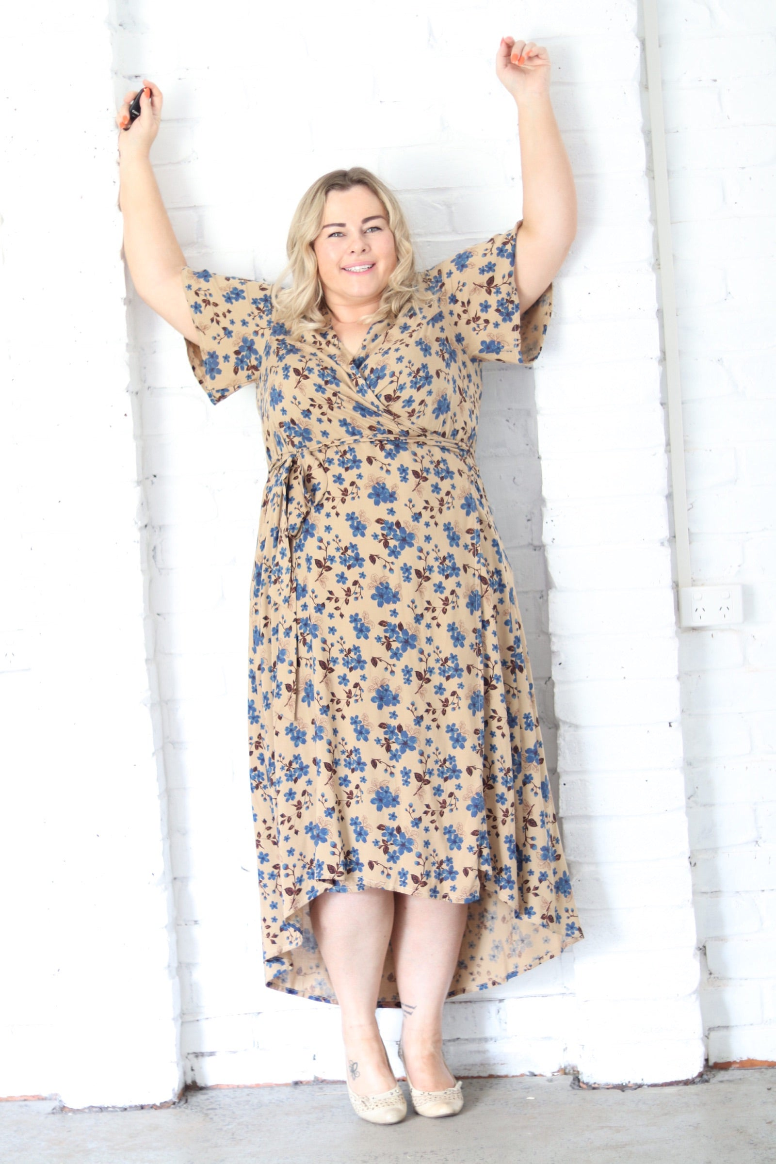 Aussie Curve Wrap Dress - Lunar