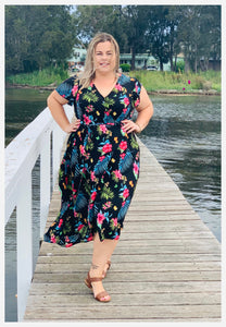 Aussie Curve Wrap Dress - Tilly