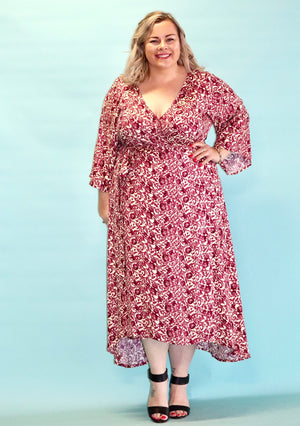Aussie Curve Wrap Dress - Camila
