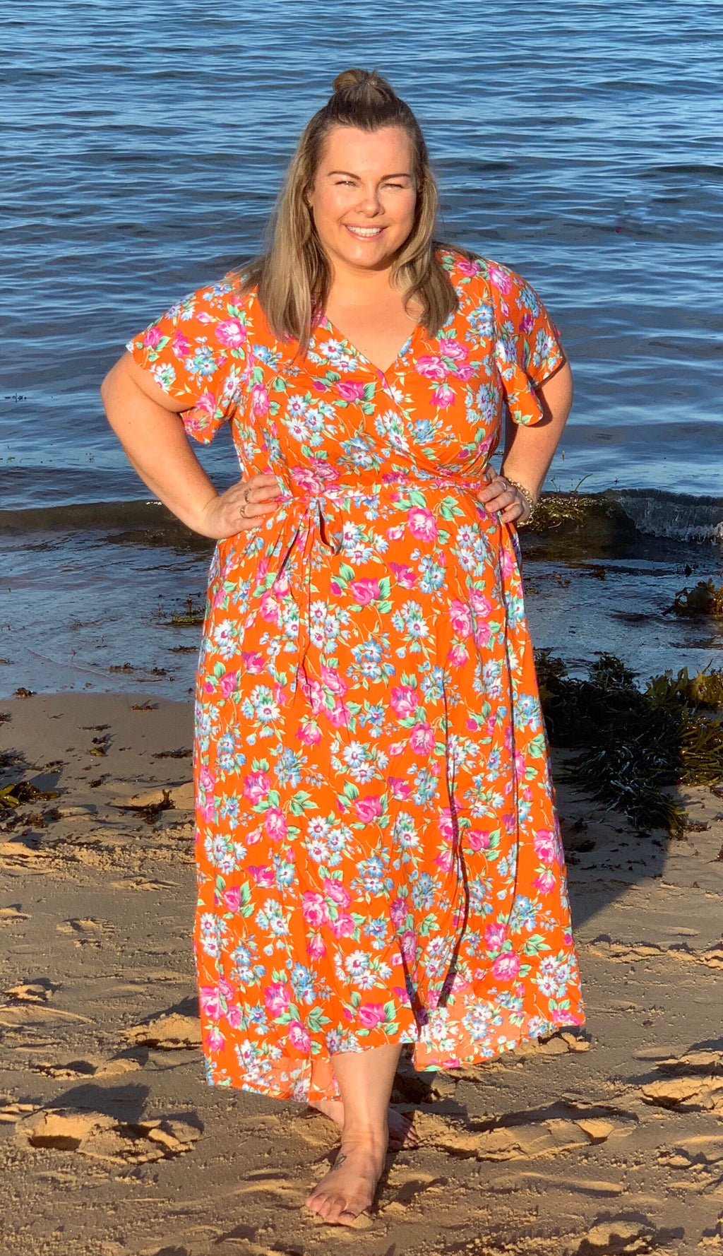 Aussie Curve Wrap Dress - Penelope