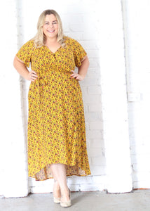 Aussie Curve Wrap Dress - Daisy
