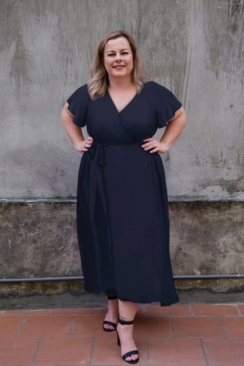 Aussie Curve Wrap Dress - Charlotte
