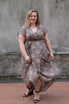 Aussie Curve Wrap Dress - April